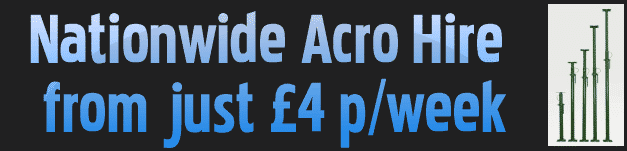 Acrow prop hire for just £4 per week